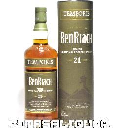 ベンリアック 21年 テンポリス ピーティッド 箱付き 46度 700ml
