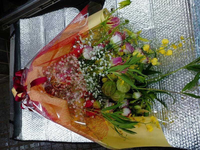 トルコギキョウ グロリオサの花束