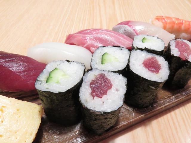 中寿司(6貫1本)・・・1,300円