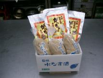 泉州名物セット【贈答用】(水なす漬3個、がっちょ3袋)
