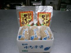 泉州名物セット【家庭用】(水なす漬3個、がっちょ2袋)