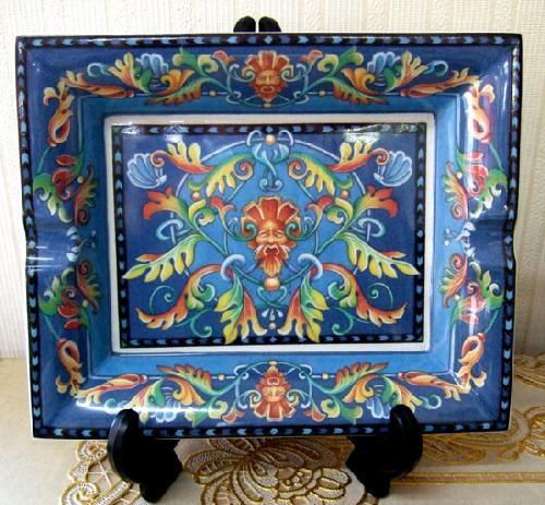 灰皿、飾り絵皿、インテリア小物 イタリア製 RC ■在庫処分品