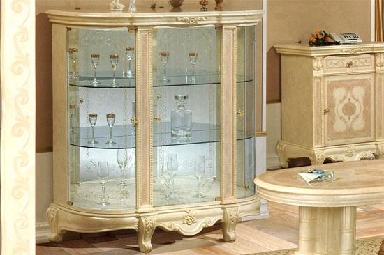 イタリア製家具 3ドア グラスサイドボードVS67