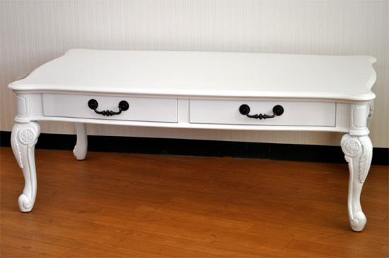 ホワイト家具のロココ調 リビングテーブル 789 さらに安くなりました。20%OFF