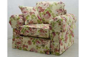 花柄1人掛けソファー組み立て式193F5007