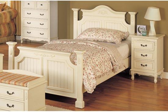 処分特価  アウトレット 輸入ベッド ホワイトベッド シングルベッド860