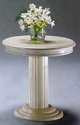 ランプスタンド 花台 丸テーブル アイボリー F38/I