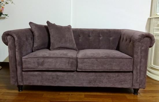 【在庫処分】輸入家具、2人掛けソファー チェスターフィールドソファ  119Z