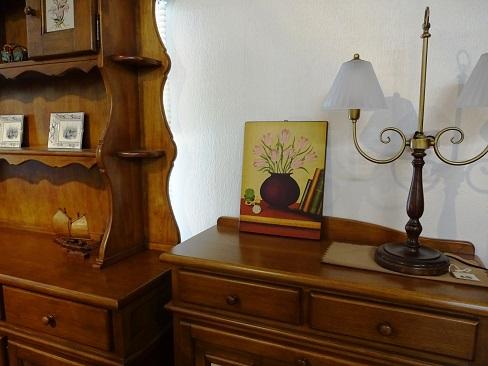 イタリア製 輸入小物 壁掛け用額絵1043チューリップ