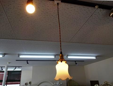 ペンダントコード 吊りランプ  リリーランプ 白B