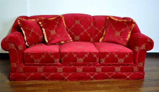 レッド 赤いソファー 3人掛けソファー207R
