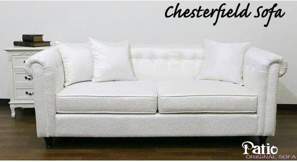 アウトレット 輸入家具、3人掛け 布製 白いソファ 119D