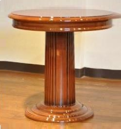 ランプスタンド 花台 丸テーブル ブラウン912F38/W