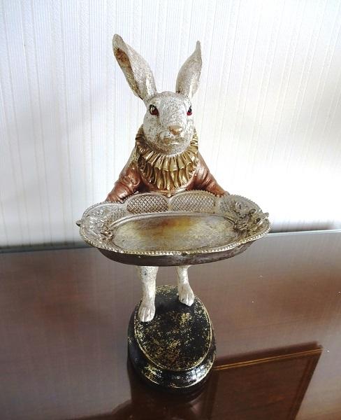 ウサギのトレイ、小物、アクセサリー入れ 633