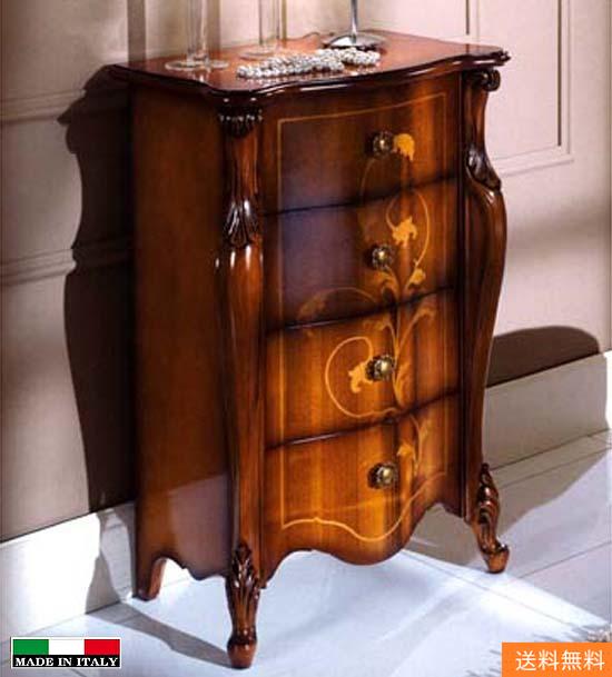 処分特価  イタリア家具 猫脚 4段チェスト 5404