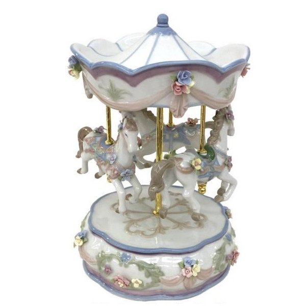 リアドロ風 陶器のオルゴール 81808