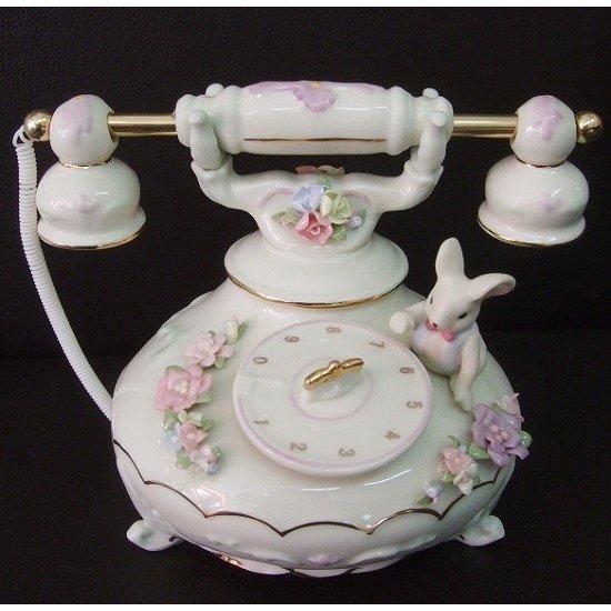 オルゴール 陶器 電話 81815