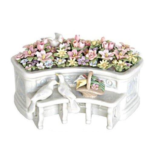 リアドロ風 陶器のオルゴール プレゼントにも最適 81839