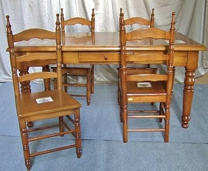 展示現品売り尽くしセール カントリー 白家具 ダイニングセット 5点セット132.131-W