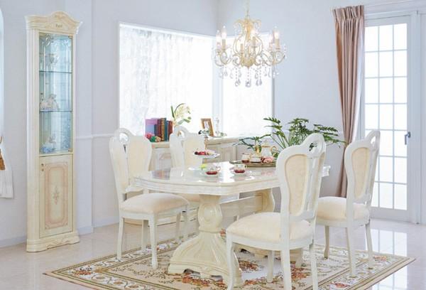 サルタレッリ アマルフィー イタリア製 ダイニング5点セット テーブル椅子セット 165cm ロココ調 姫系 アイボリー ,A8/I  F40BE