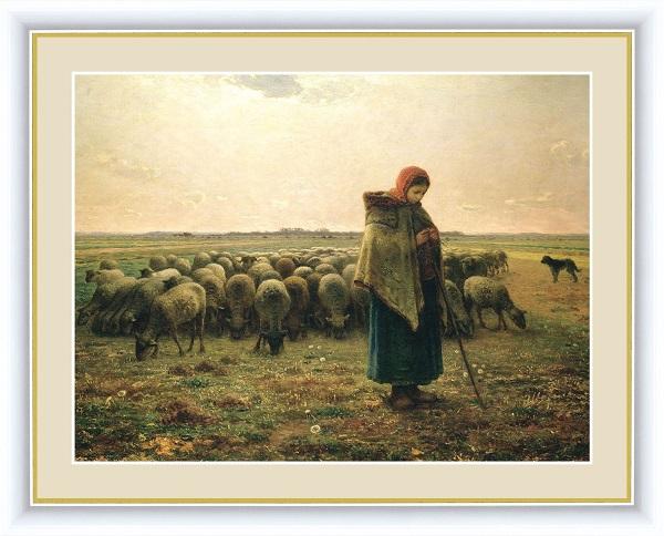 羊飼いの少女 世界の名画 ミレー  G4-BM011
