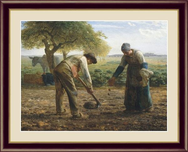 馬鈴薯植え 世界の名画 ミレー  G4-BM014