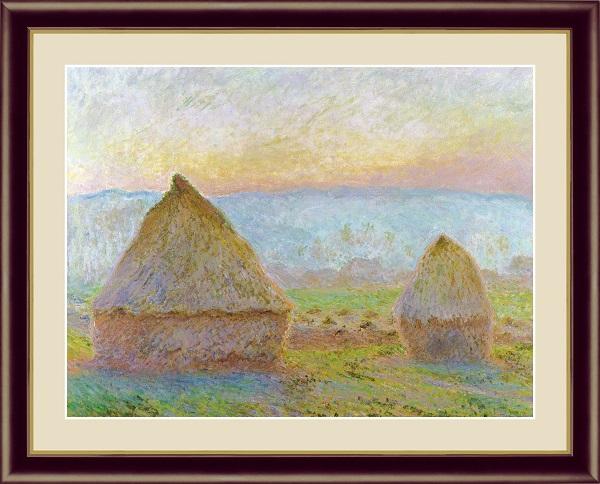 ジヴェルニーの積み藁、夕日 世界の名画   モネ G4-BM024