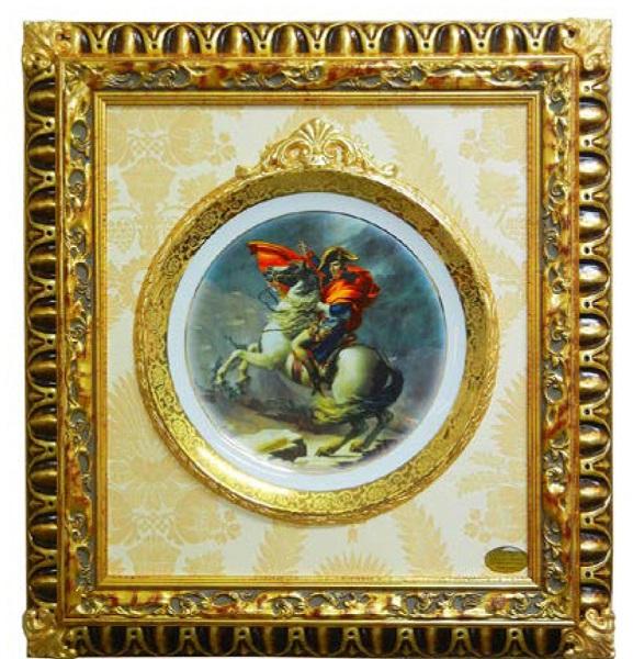 イタリア製 輸入小物 壁掛け用絵皿 額絵 F8-F91