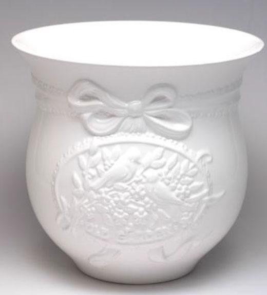 ポルトガル製陶器のプランター 植木鉢 穴あけ 鉢カバー 白1色 ホワイト PSU-H9900W