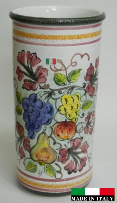 イタリア製 陶器の傘立て フルーツ 葡萄 ブドウ 962270