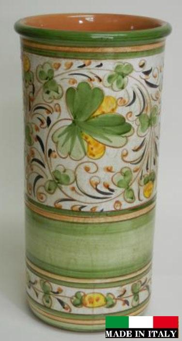 イタリア製 陶器の傘立て グリーン 緑 962331