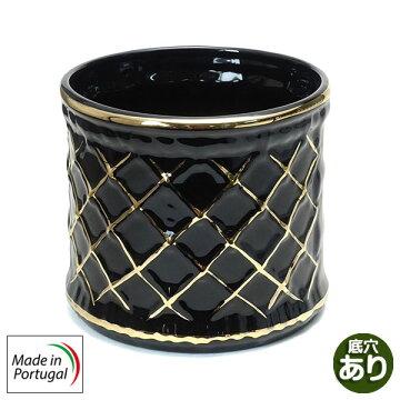 ポルトガル製陶器のプランター 植木鉢 プランタカバー  ゴールド おしゃれ1601BG
