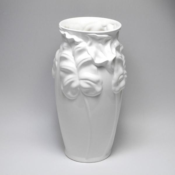 ポルトガル製 白い傘立 陶器の傘立て 白 ホワイト 260W