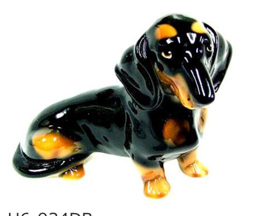 ミニチュアダックスフンド 犬 イタリア製 陶器  H6-934DB