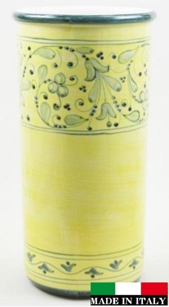 イタリア製傘立て 花柄 イエロー 黄色 可愛い 素敵 961281