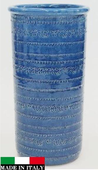 イタリア製傘立て  青 ブルー 素敵 961406