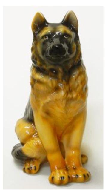 犬の置物 シェパード 陶器 イタリア製 インテリア ガーデン 置物 オブジェ-75