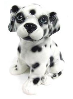 犬の置物 ダルメシアン 陶器 イタリア製 インテリア ガーデン 置物 オブジェ 11DA