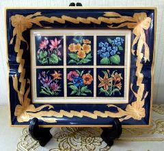 灰皿、飾り絵皿、インテリア小物 イタリア製 RF ■在庫処分品