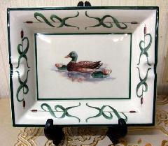 灰皿、飾り絵皿、インテリア小物 イタリア製 1羽 ■在庫処分品