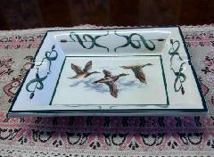 灰皿、飾り絵皿、インテリア小物 イタリア製 3羽 ■在庫処分品