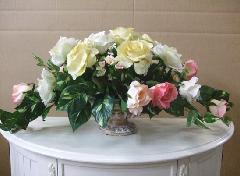 【アウトレット】アレンジフラワー 花、造花 鉢花 鉢付き インテリア F399M2-1