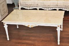 イタリア製 白い リビングテーブル  大理石 301TI
