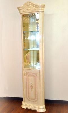 イタリア/サルタレッリ社製コーナー飾り棚 ガラスキャビネット A14/I