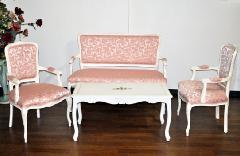 イタリア家具,応接サロン3点セット 布張り (2人掛け、1人掛け、) 405R/I