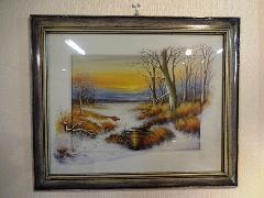 イタリアの風景画 絵、額絵 Q8276