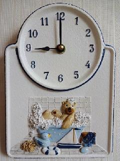 ドイツのセラミック時計  くまさん お風呂 2512
