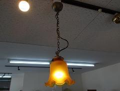 ペンダントコード チェーン吊りランプ  リリーランプ ベイジュ043