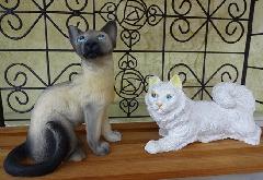 イタリア製猫の置物 2匹セット プチアニマルネコシリーズ