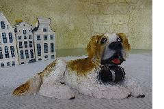 イタリア製犬のセントバーナード 置物 プチアニマル犬